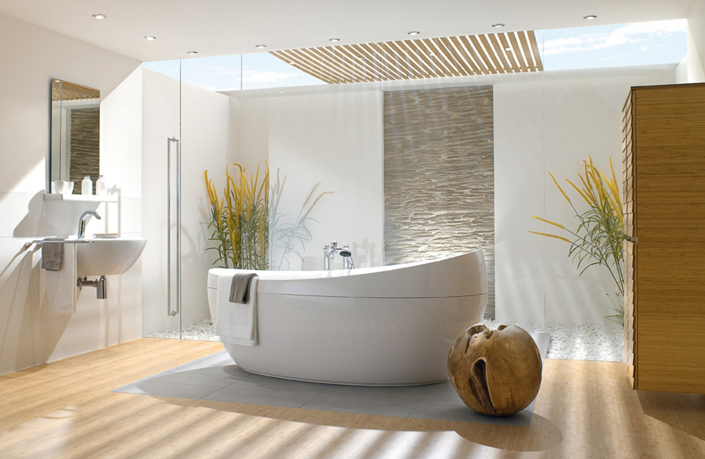 декор ванной комнаты в стиле SPA